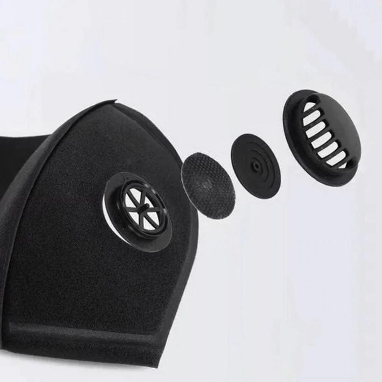 Tvättbara Munskydd med ventil 5-pack