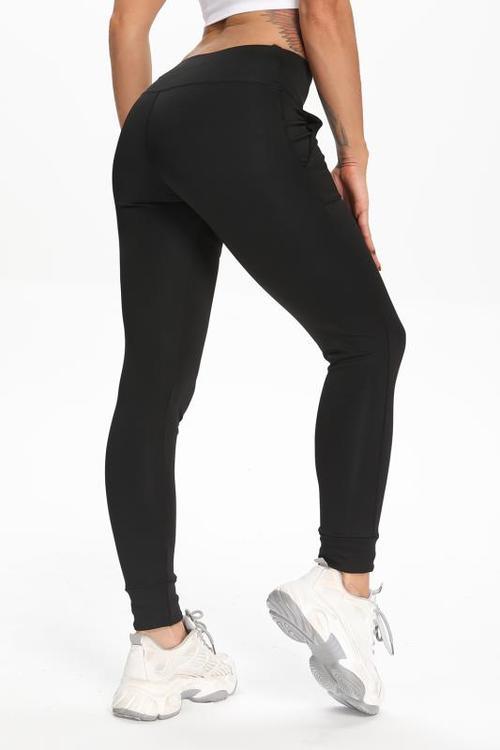 Svarta Leggings med fickor