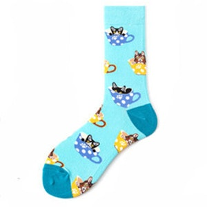 Trendiga Färgglada mönstrade strumpor socka