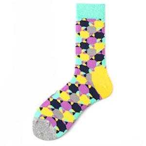 Trendiga Färgglada mönstrade strumpor sockar