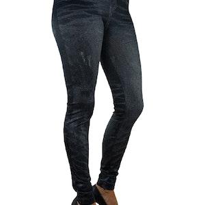JEANS PRINT BLACK LEGGINGS