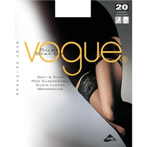 VOGUE SILKY STAY UP 20 DEN WHITE M-L