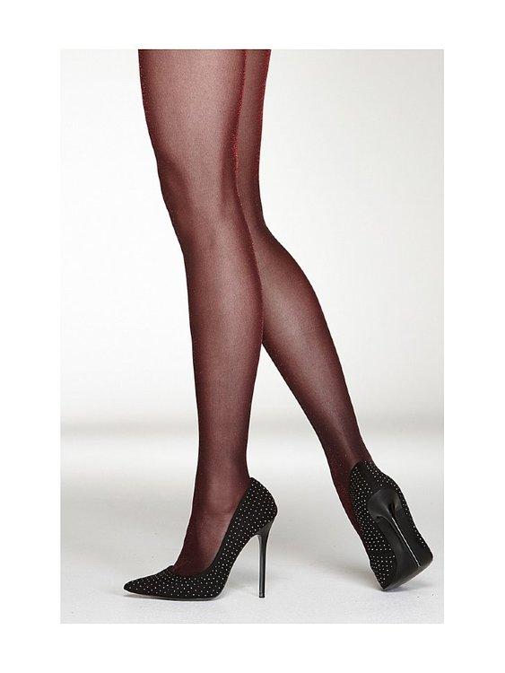 Vogue Luxe Lurex Strumpbyxor Syrah Red 40-44