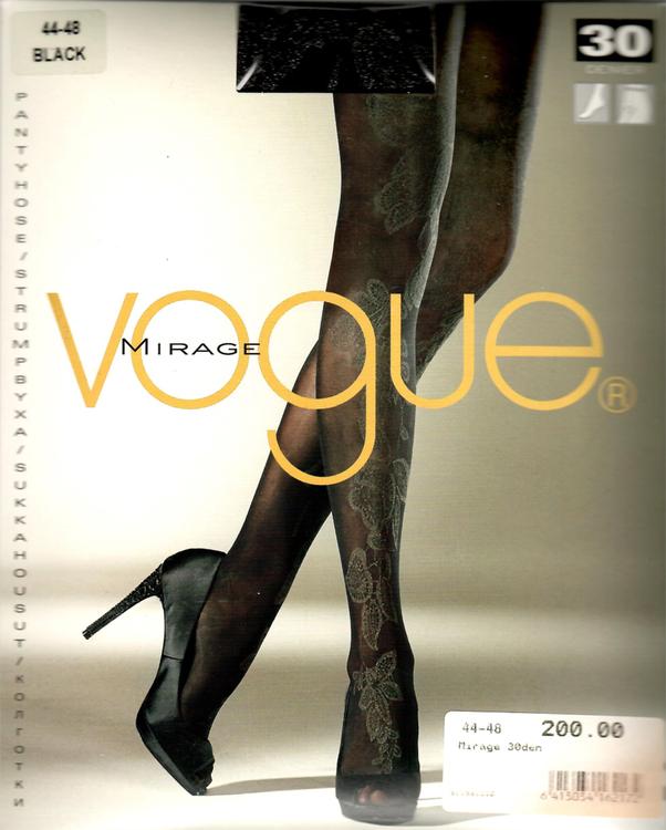 Vogue Mirage Strumpbyxa 30 den Black 44-48