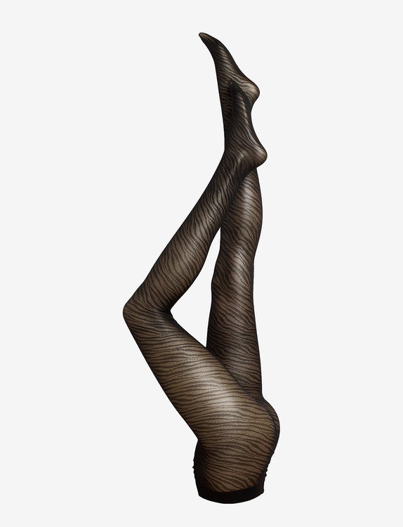 Vogue Strumpbyxa Zebra 40 den Black 36-40