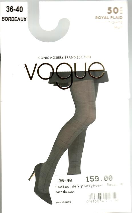 Vogue Royal Plaid 50 den Bordeaux