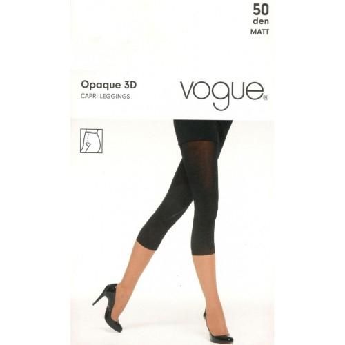 Vogue Capri Leggings 3D 50 den Black S-M
