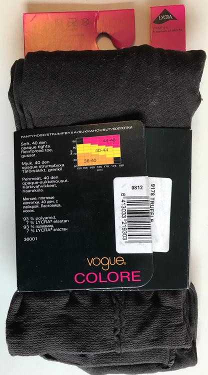 Vogue Strumpbyxa Leggings Colore Mörkbrun Truffle 40 den 40-44