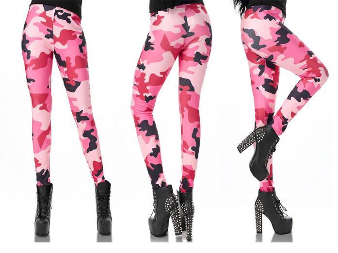Rosa Kamouflage Leggings