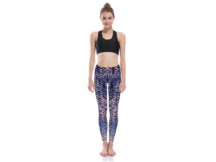 Lila Mermaid Yoga Leggings