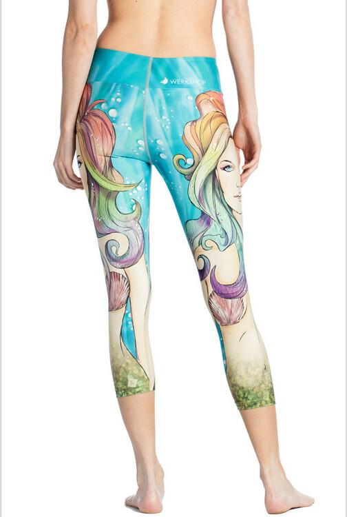 Sjöjungfru Yoga Leggings