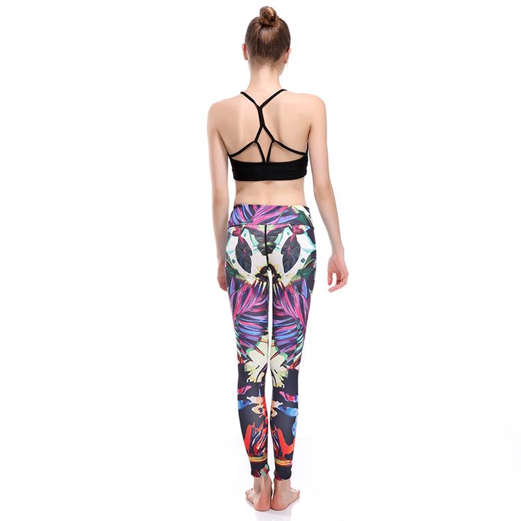 Mönstrade Yoga Leggings