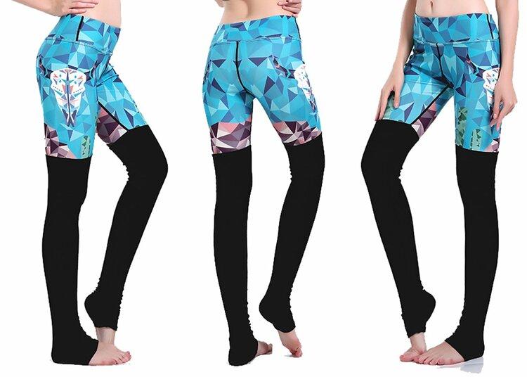 Blue Diamond Yoga Leggings