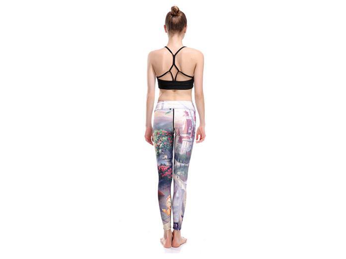 Skönheten och Odjuret Yoga Leggings
