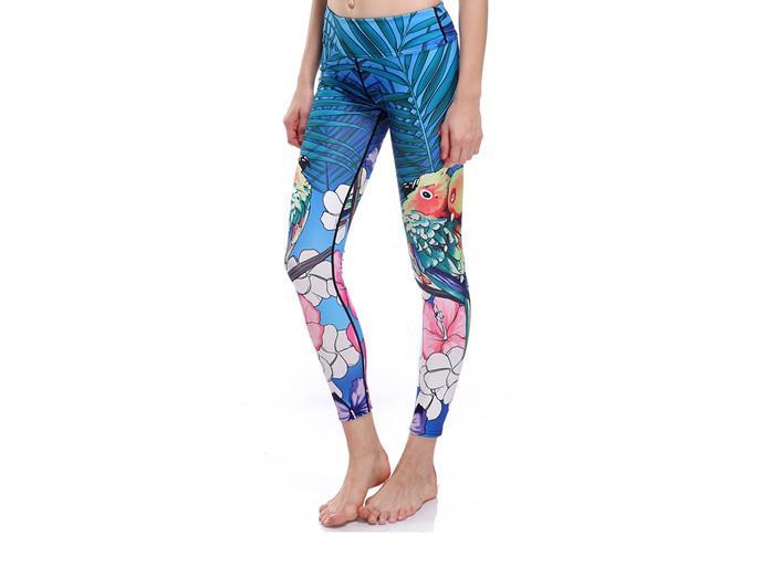 Tropisk Fågel Yoga Leggings