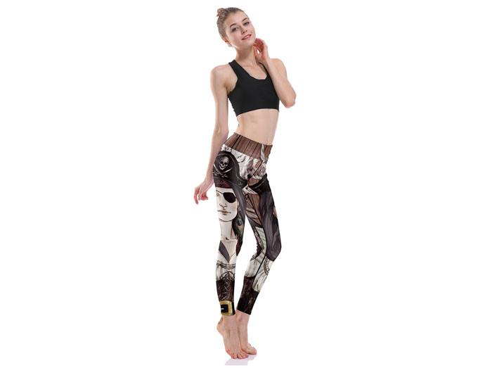 Kvinnliga Pirat Yoga Leggings