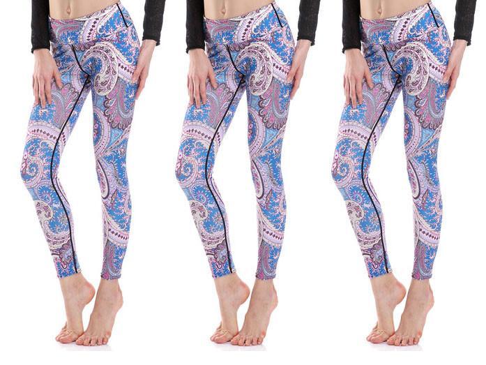 Pastel Paisley Yoga Leggings