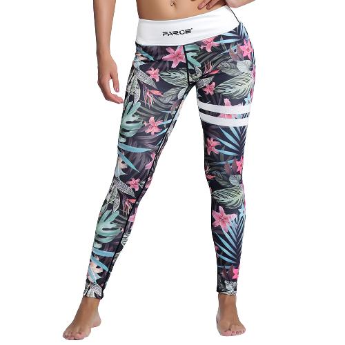 Blommiga Yoga Leggings