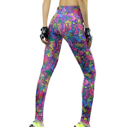 Färgglada Mönstrade Yoga Leggings