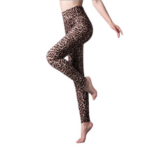 Leopard mönstrade leggings