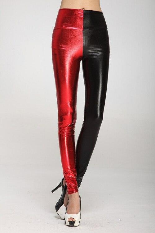 Hög midja Faux Leather Fuskskinn Leggings i 2 färger