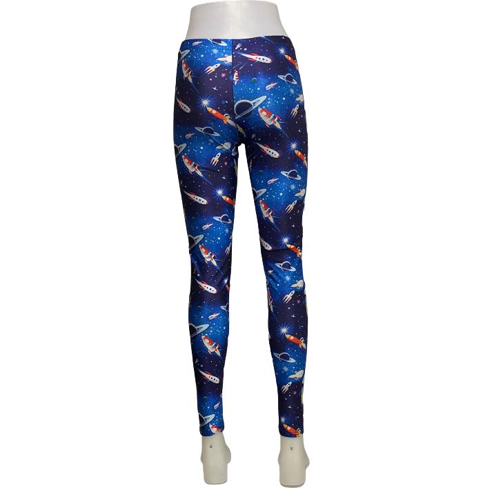 Galaxy Rymdskepp Leggings