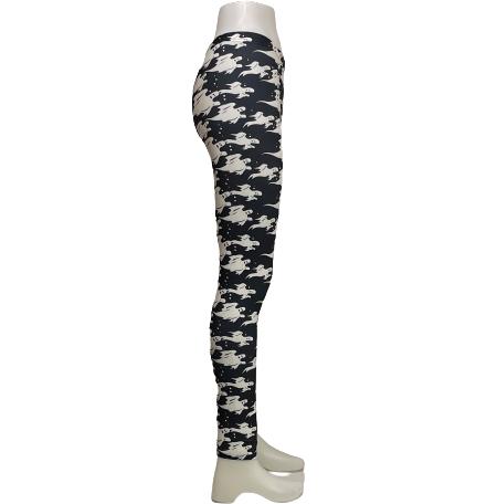Svarta Leggings med Vita Spöken