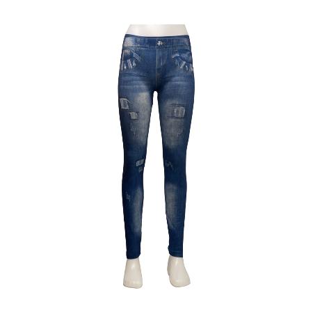 Mönstrade Jeans Leggings med tryck Blå