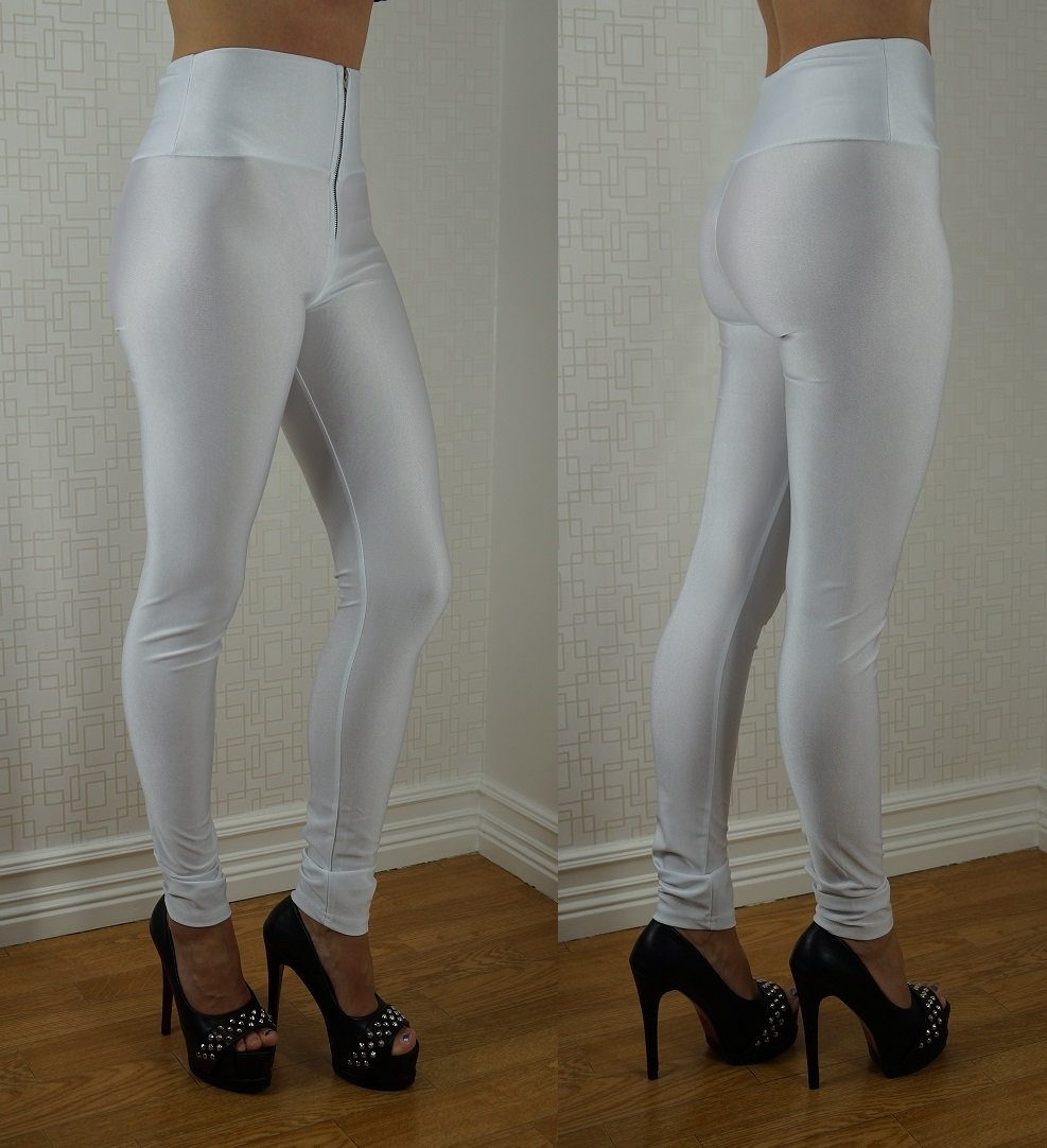 Zipper Neon Fluorescent Leggings Vit