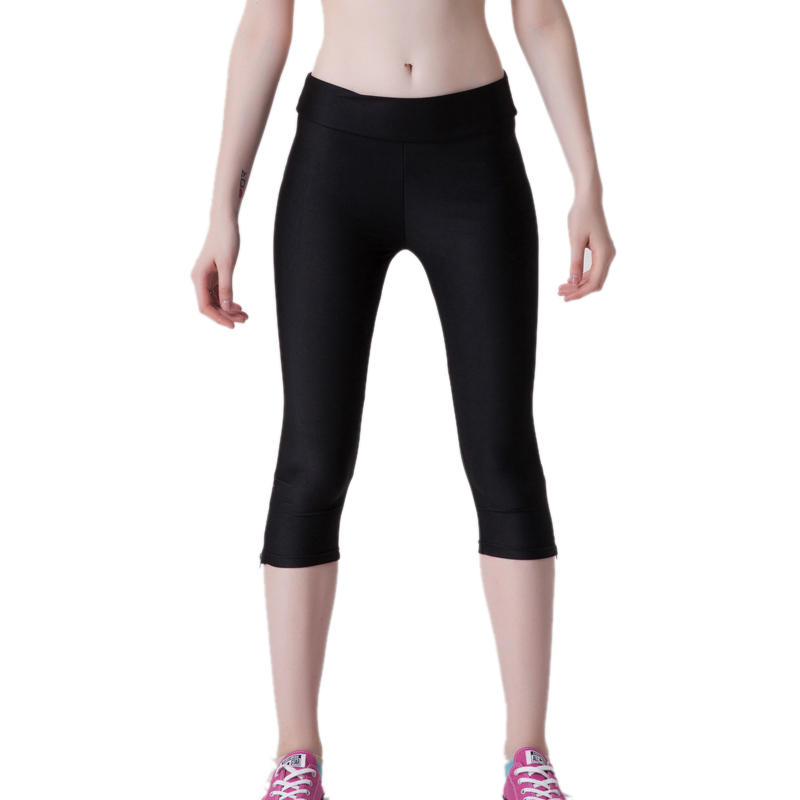 Short Neon Fluorescent Leggings Black
