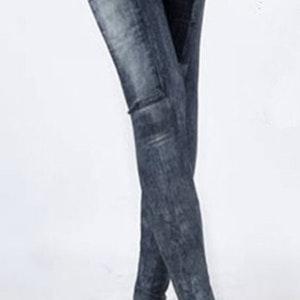 Summer Look Black Jeans Print Leggings