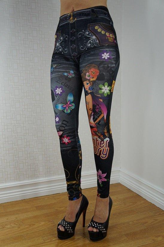 BLACK BUTTERFLY GIRL LEGGINGS
