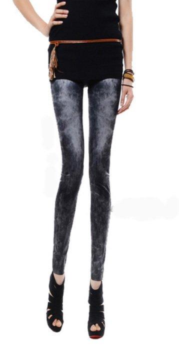 Stonewashed Look Jeans Leggings