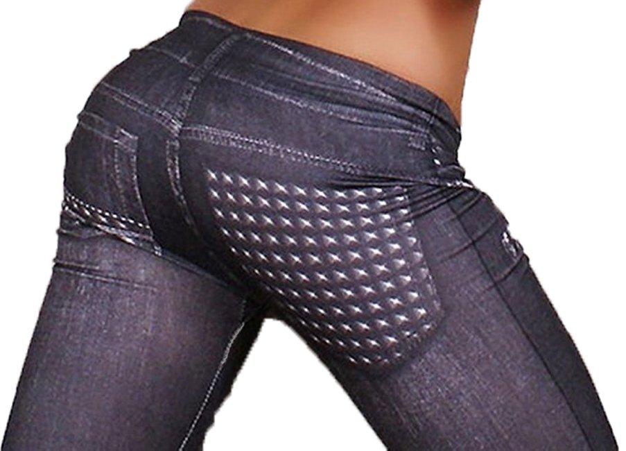 Fake Pocket Black Leggings