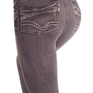 Black Fake Pocket Jeans Leggings