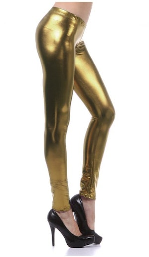 Gold Metallic Leggings