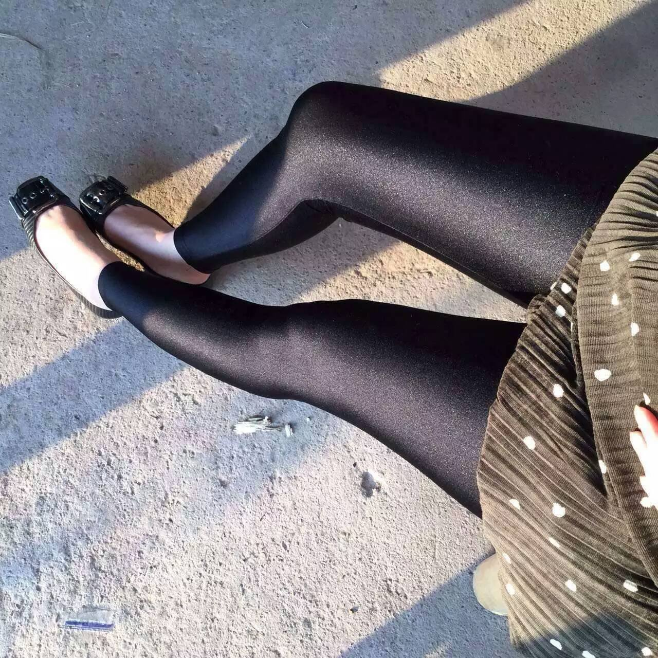 Shiny Gloss Black Leggings