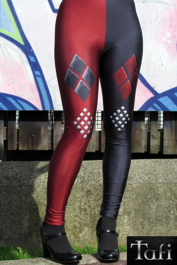 Black & Red Leggings