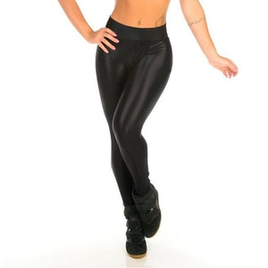 Black Shiny Fashion Leggings