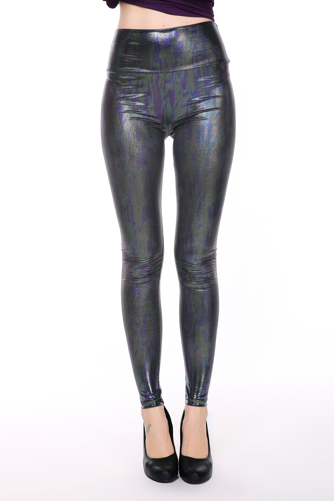 Animal Faux Leather Leggings