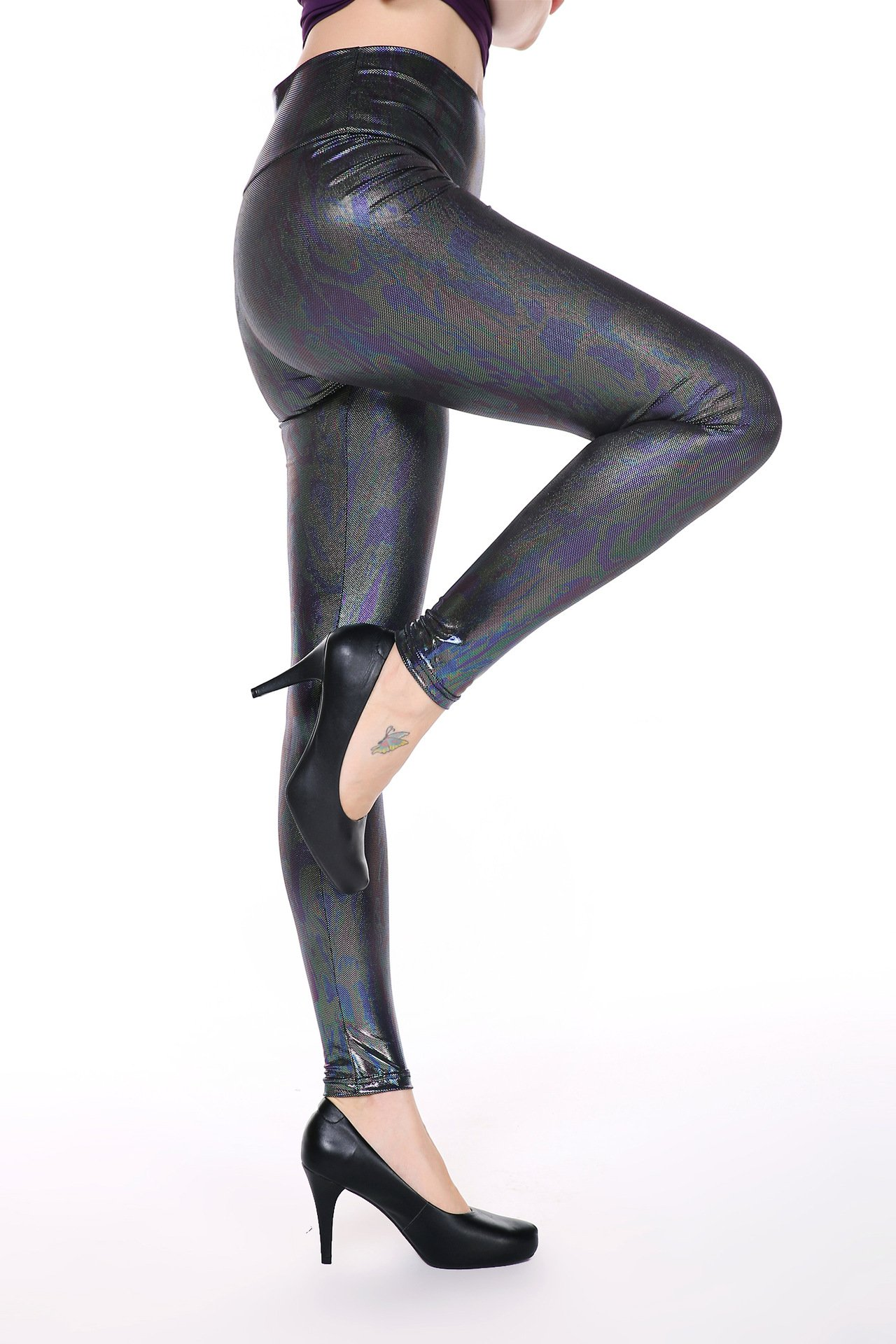 Animal Faux Leather Leggings