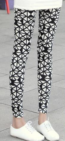 White Tribal Leggings