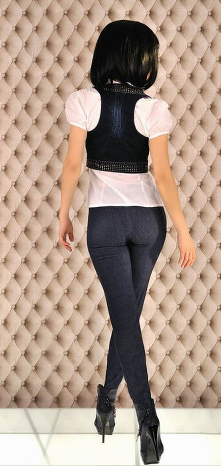 Blue denim jeans leggings jeggings