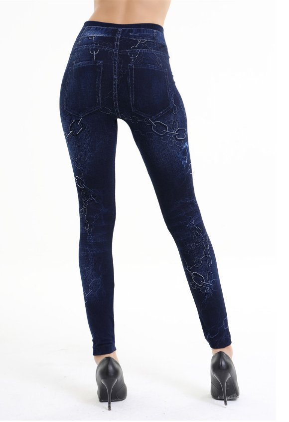 Jeans Leggings with chain print