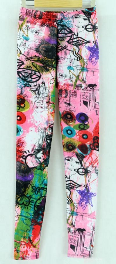 Pink Tattoo Art Leggings