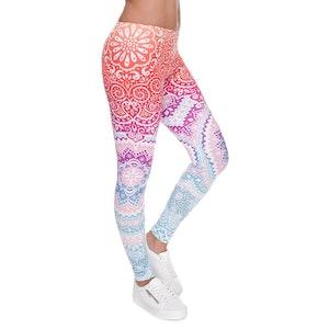 Mönstrade Leggings Pants