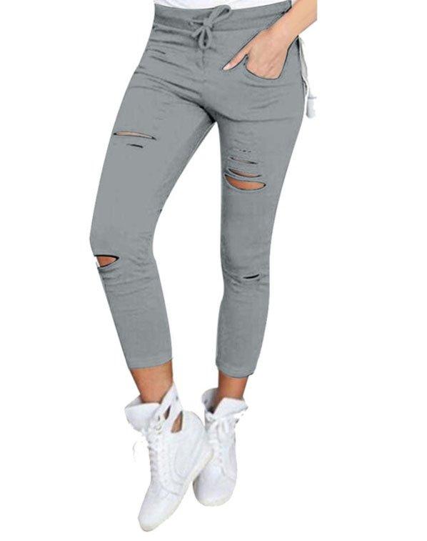 Jeans Leggings Stretch Jeggings Grå