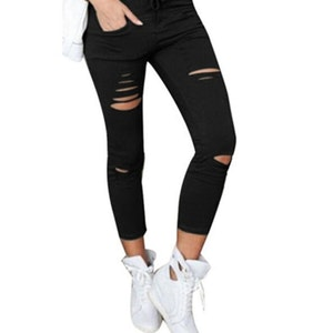 Jeans Leggings Stretch Jeggings Svart