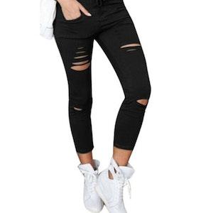 Jeans Leggings Stretch Jeggings Svart