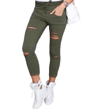 Jeans Leggings Stretch Jeggings Grön